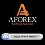 Вход в личный кабинет форекс брокера Афорекс