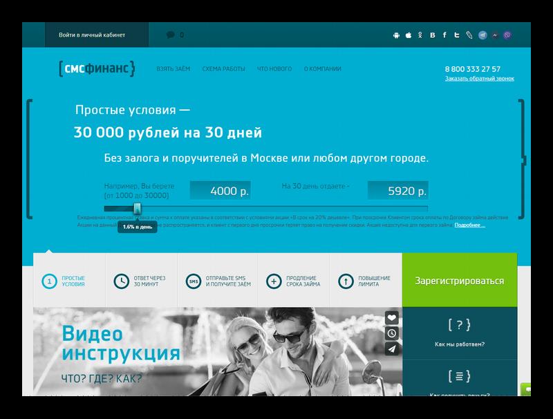 SMSfinance официальный сайт